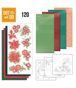 KIT 3D DOT CHRISTMAS FLOWER - 120