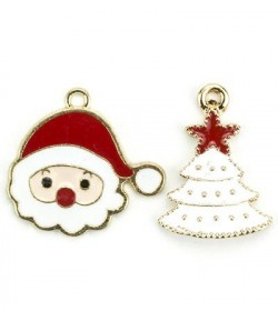 CHARMS CHRISTMAS SAPIN ET PERE NOEL