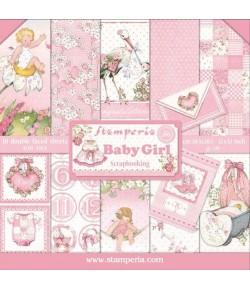 BLOC 10 FEUILLES BABY GIRL 30X30 SBBL41