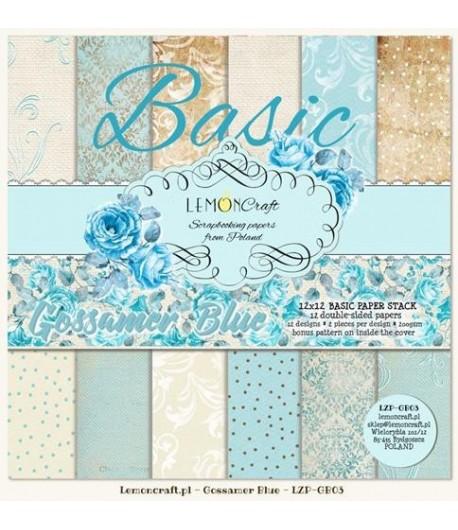 BLOC PAPIER 30X30 GOSSAMER BLUE BASIC - LEMON CRAFT