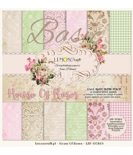 BLOC PAPIER 30X30 HOUSE OF ROSES - LEMON CRAFT