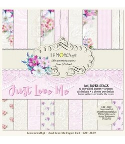 BLOC PAPIER 15X15 JUST LOVE ME - LEMON CRAFT