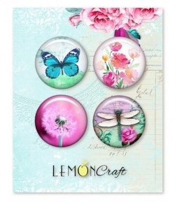 BUTTON BADGE DAYDREAM X 4 - LEMON CRAFT