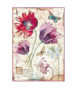 BLOC 12 FEUILLES 30 X 30 CM IN BLOOM - SCRAPBERRY'S