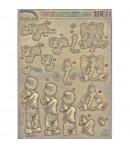 FEUILLE 3D METAL SAM LE CHAT ET HOFF L'ELEPHANT DU248810