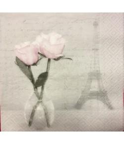 SERVIETTE ROSES DE PARIS