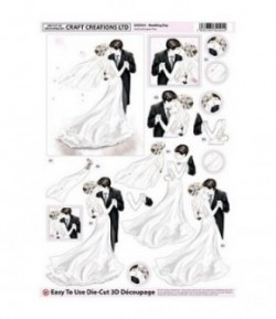 FEUILLE 3D JOUR DE MARIAGE DCD591