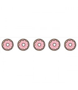 WASHI TAPE DONUTS ROSE