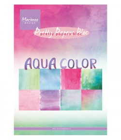 BLOC PAPIER AQUA COLOR - MARIANNE DESIGN