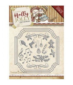 13 DIES HOLLY JOLLY CARD SET