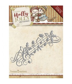 DIES HOLLY JOLLY MUSIC BORDURE