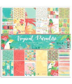 KIT 6 PAPIERS TROPICAL PARADISE