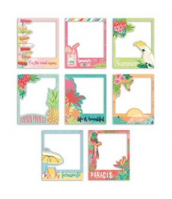 ASSORTIMENT 8 POLAROIDS TROPICAL PARADISE