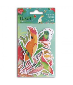ASSORTIMENT 40 DIE CUTS TROPICAL PARADISE