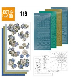 KIT 3D DOT VINTAGE BLEU - 119