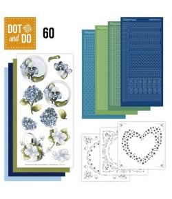 KIT 3D DOT FLEURS BLEUES DODO060