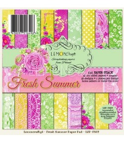 BLOC PAPIER 15X15 FRESH SUMMER - LEMON CRAFT