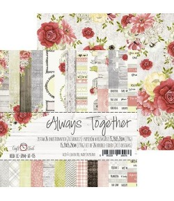 BLOC PAPIER 15X15 ALWAYS TOGETHER - CRAFT O CLOCK