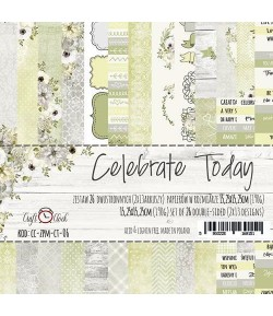 BLOC PAPIER 15X15 CELEBRATE TODAY - CRAFT O CLOCK