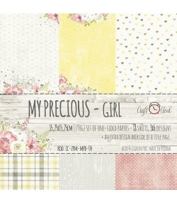 BLOC PAPIER 15X15 MY PRECIOUS GIRL- CRAFT O CLOCK