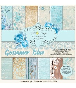 BLOC PAPIER 30X30 GOSSAMER BLUE - LEMON CRAFT