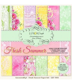 BLOC PAPIER 30X30 FRESH SUMMER - LEMON CRAFT