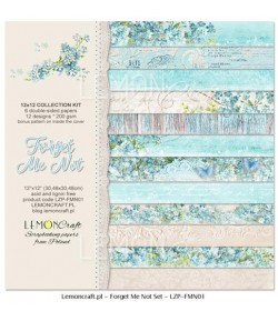 BLOC PAPIER 30X30 FORGET ME NOT - LEMON CRAFT