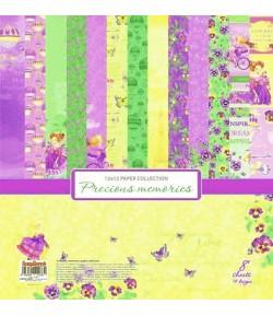 BLOC 8 FEUILLES 30X30 PRECIOUS MEMORIES - SCRAPBERRY'S