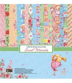 BLOC 9 FEUILLES 30X30 SWEET MOMENTS - SCRAPBERRY'S