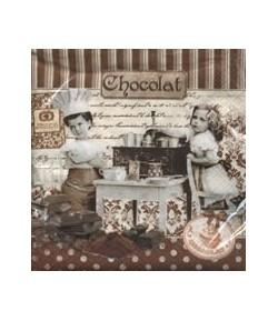 SERVIETTE CHOCOLAT ET ENFANTS