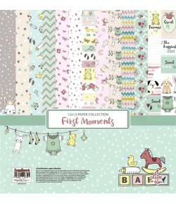 BLOC 8 FEUILLES 30X30 SWEET MOMENTS - SCRAPBERRY'S