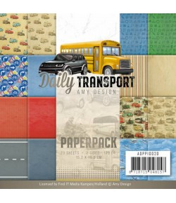 BLOC 23 FEUILLES 15.2X15.2 DAILY TRANSPORT