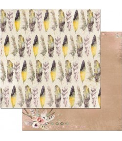PAPIER SERENDIPILY FEATHERS 30.5 X 30.5 CM - BO BUNNY