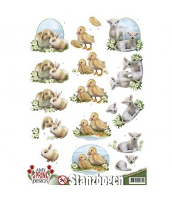 FEUILLE 3D PETITS ANIMAUX SB10078