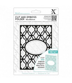 PLAQUE DE GAUFRAGE + DIE XCUT DIAMOND LATTICE