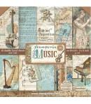 BLOC 10 FEUILLES MUSIC 30.5 X 30.5 CM