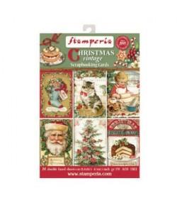 BLOC 24 CARTES CHRISTMAS VINTAGE  11.4 X 16.5 CM