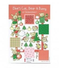 FEUILLE CHRISTMAS BEAR BUNNY