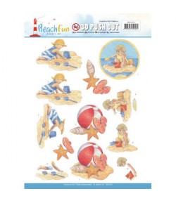 FEUILLE 3D BEACH FUN 10270