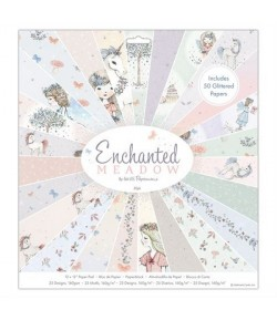 BLOC 50 FEUILLES 30.5 X 30.5 CM - ENCHANTED MEADOW