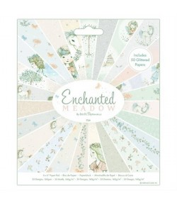 BLOC 50 FEUILLES 15 X 15 CM - ENCHANTED MEADOW