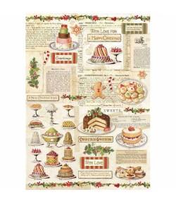 PAPIER DE RIZ CHRISTMAS CAKE 21 X 29.7 DFSA4329