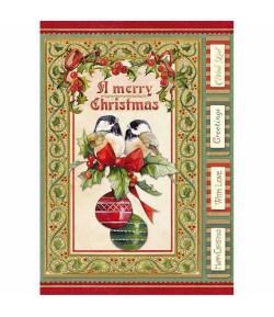 PAPIER DE RIZ CHRISTMAS VINTAGE 21 X 29.7 DFSA4340