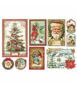 PAPIER DE RIZ CHRISTMAS VINTAGE 33 X 48 DFS412