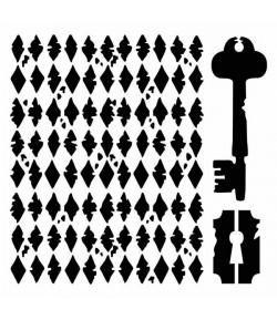 POCHOIR CLE 18X18 EP 0.25 KSTDQ01