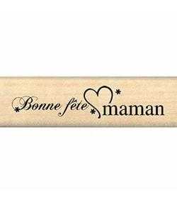 TAMPON BOIS BONNE FETE MAMAN FB109114