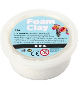 PATE A MODELER FOAM CLAY BLANC - 35 G