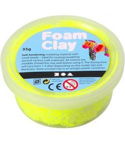 PATE A MODELER FOAM CLAY JAUNE  FLUO - 35 G