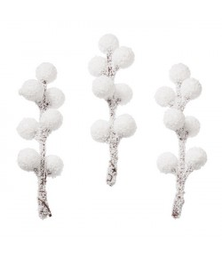 BRANCHES BOULES BLANCHES X 4