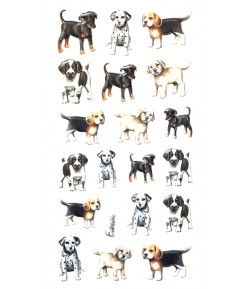STICKERS EN RELIEF CHIENS